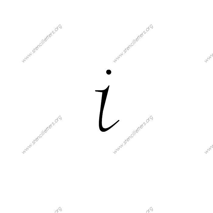 Fancy Italic Uppercase & Lowercase Letter Stencils A-Z 1/4 ...