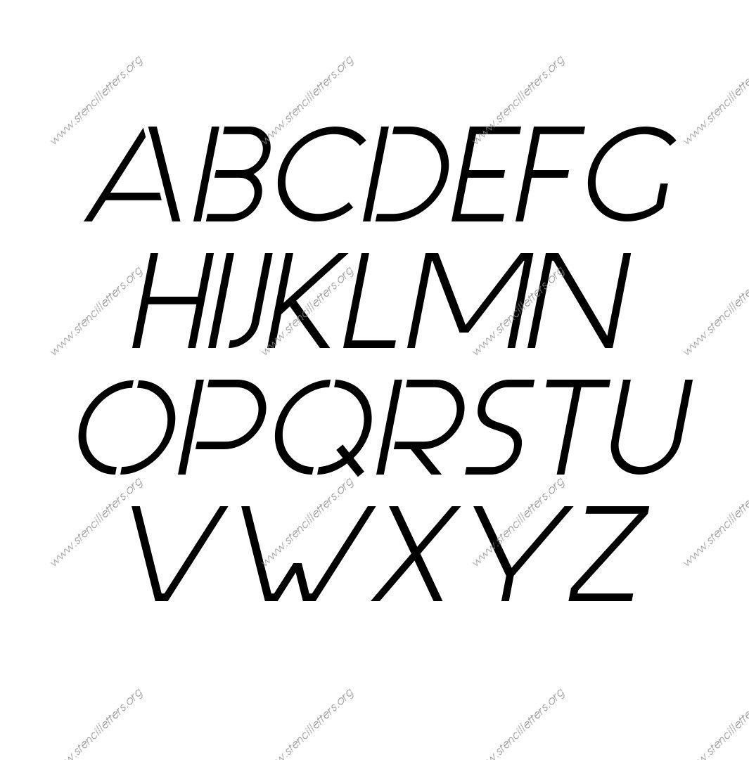 Basic Italic A to Z alphabet stencils