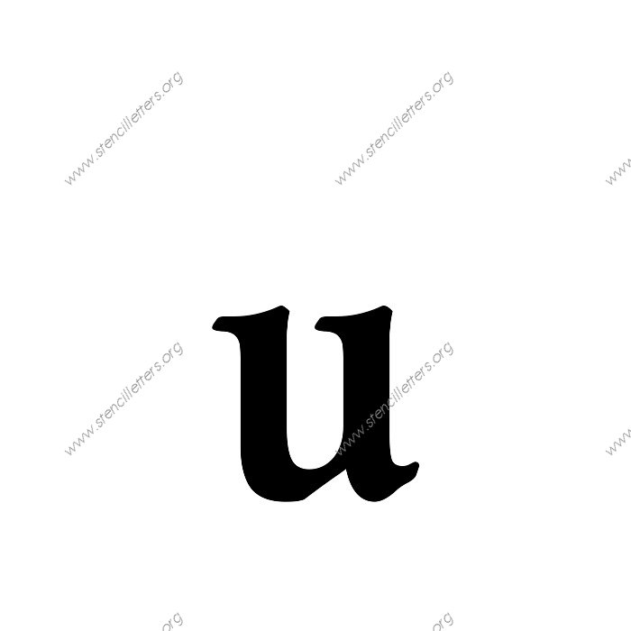 decorative bold uppercase  u0026 lowercase letter stencils a