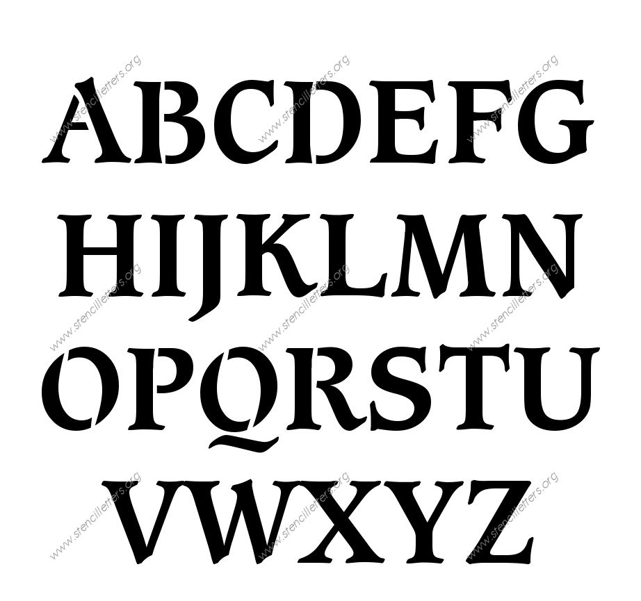 Alphabet E letters to print and cut out free - Shop Stencils Letters Numbers