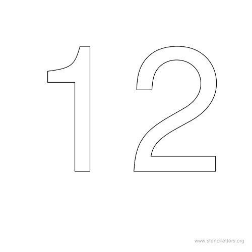 Stencil number 10 Stencil number 11 Stencil number 12
