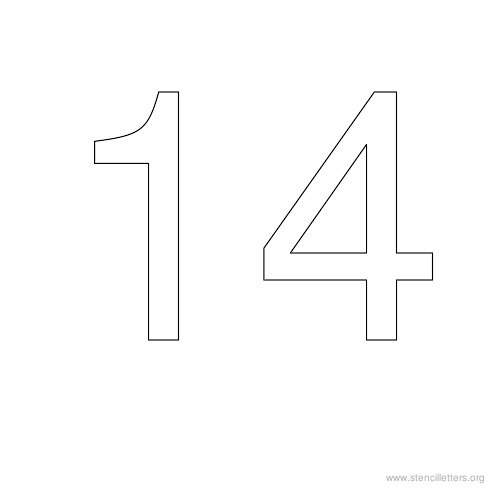 stencil-number-14  Inch Letter Templates on basic cover, sample request, sample business,
