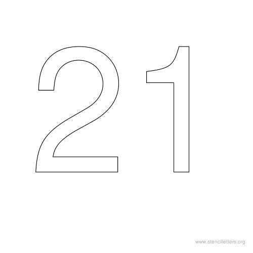 21  двадцать одно