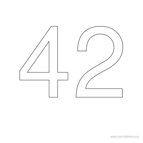 42 картинка цифр