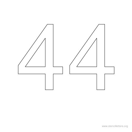 stencil-number-44 Old English Letters Alphabet Template on