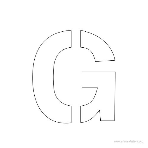 This is an image of Nifty 1 Inch Printable Letter Templates
