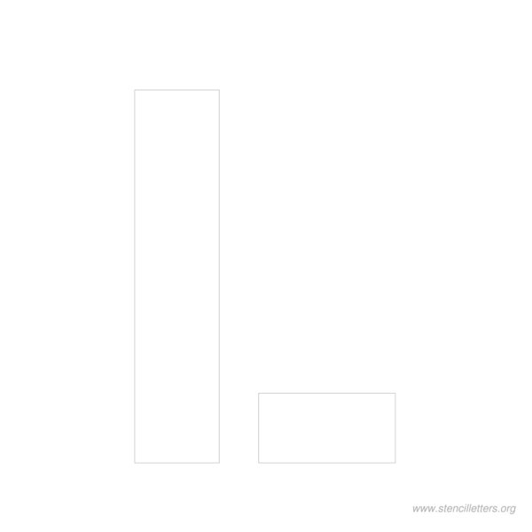 10inch-stencil-letter-l  Inch Letter Templates on thousandth of an inch, english units, imperial units, unit of length, cubic inch, pounds per square inch, square inch, international system of units, fluid ounce, british thermal unit,