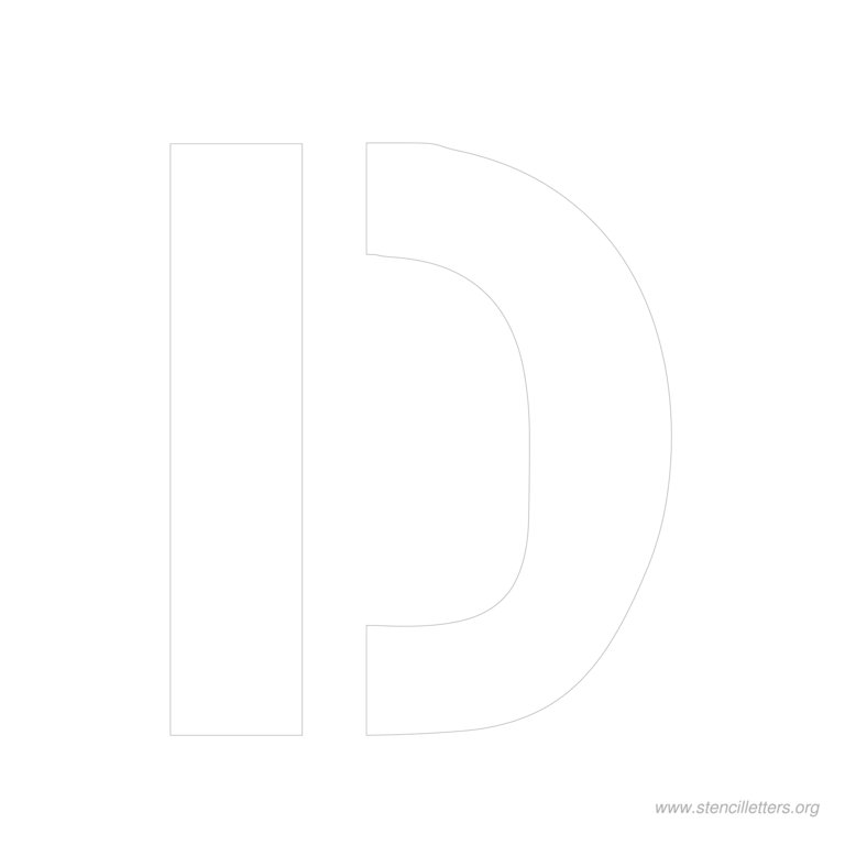 11 inch stencil letter d