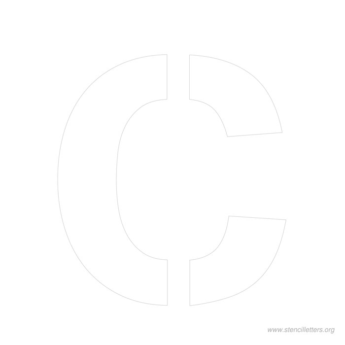 12inch-stencil-letter-c  Inch Letter Templates on unfinished wooden, stencils print for free, wooden scroll, stainless steel, cut out free, free alphabet stencils curly, free printable, paper mache, stencils printable, for signs, alphabet template,
