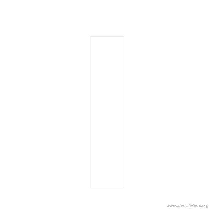 12 inch stencil letter i