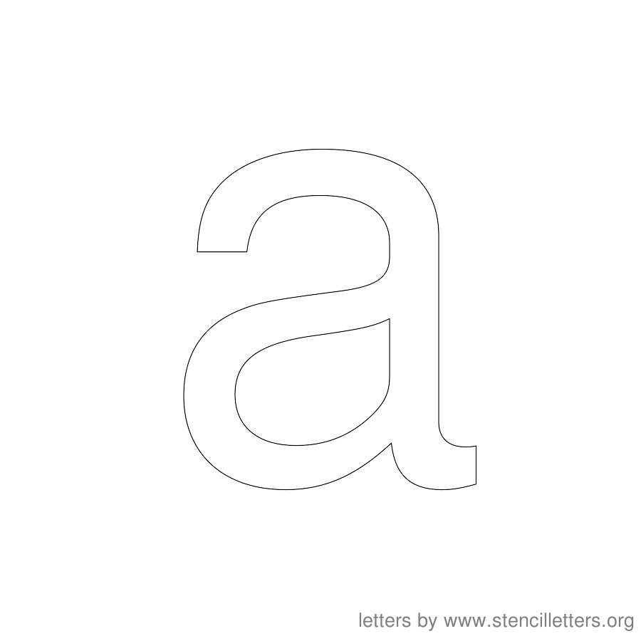 12 Inch Stencil Letter Lowercase A
