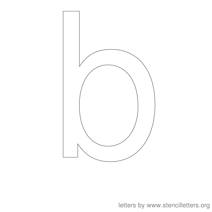 12 Inch Stencil Letter Lowercase B