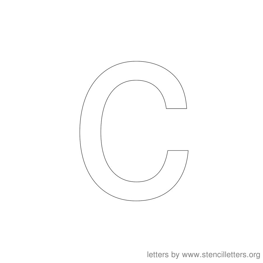 12 Inch Stencil Letter Lowercase C