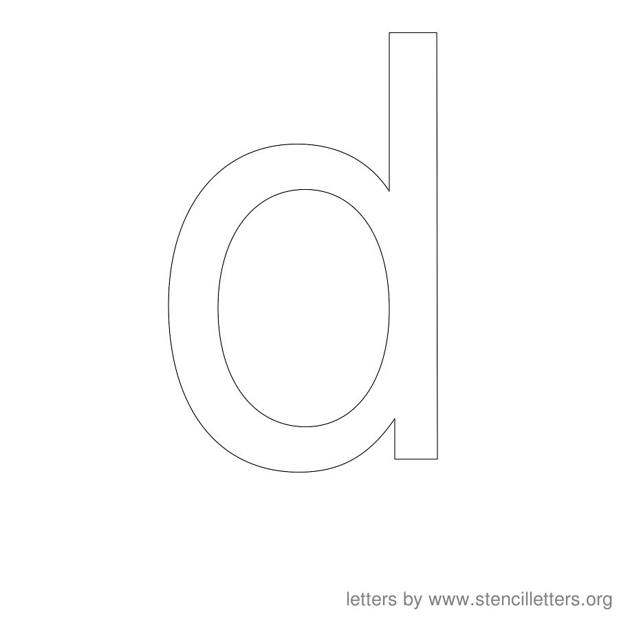 12 Inch Stencil Letter Lowercase D