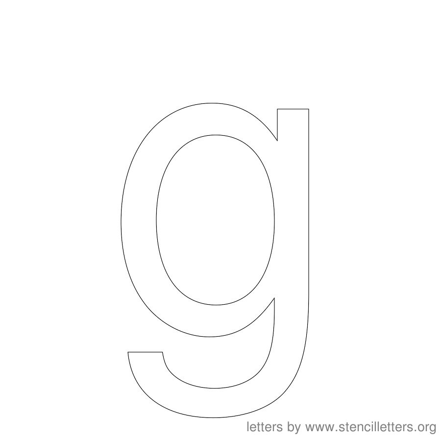 12 Inch Stencil Letter Lowercase G