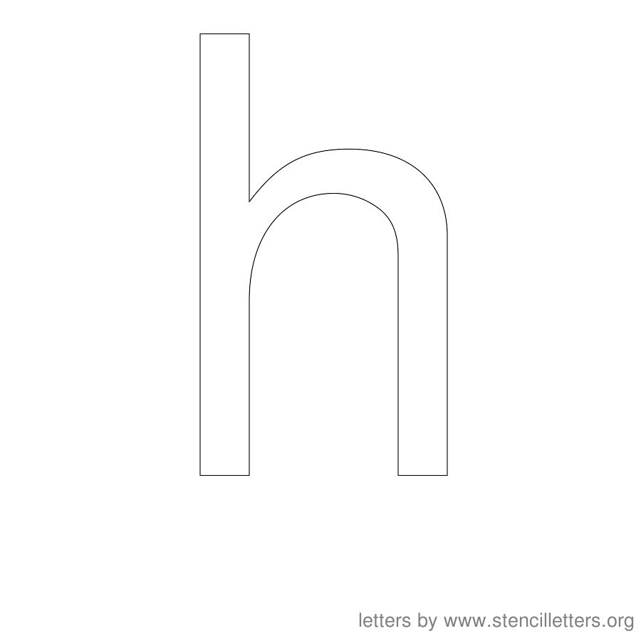 12 Inch Stencil Letter Lowercase H