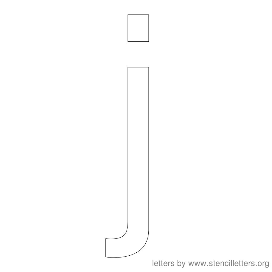 12 Inch Stencil Letter Lowercase J