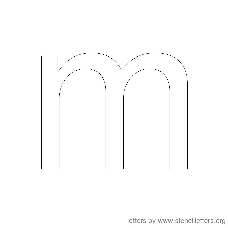 12 Inch Stencil Letter Lowercase M