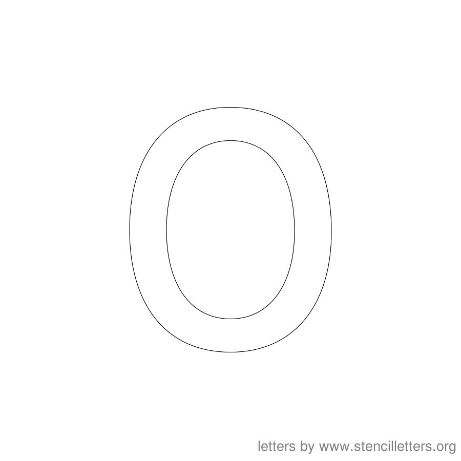 12 Inch Stencil Letter Lowercase O