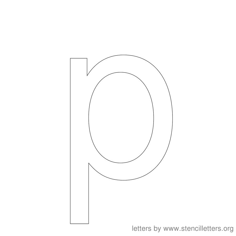 12 Inch Stencil Letter Lowercase P