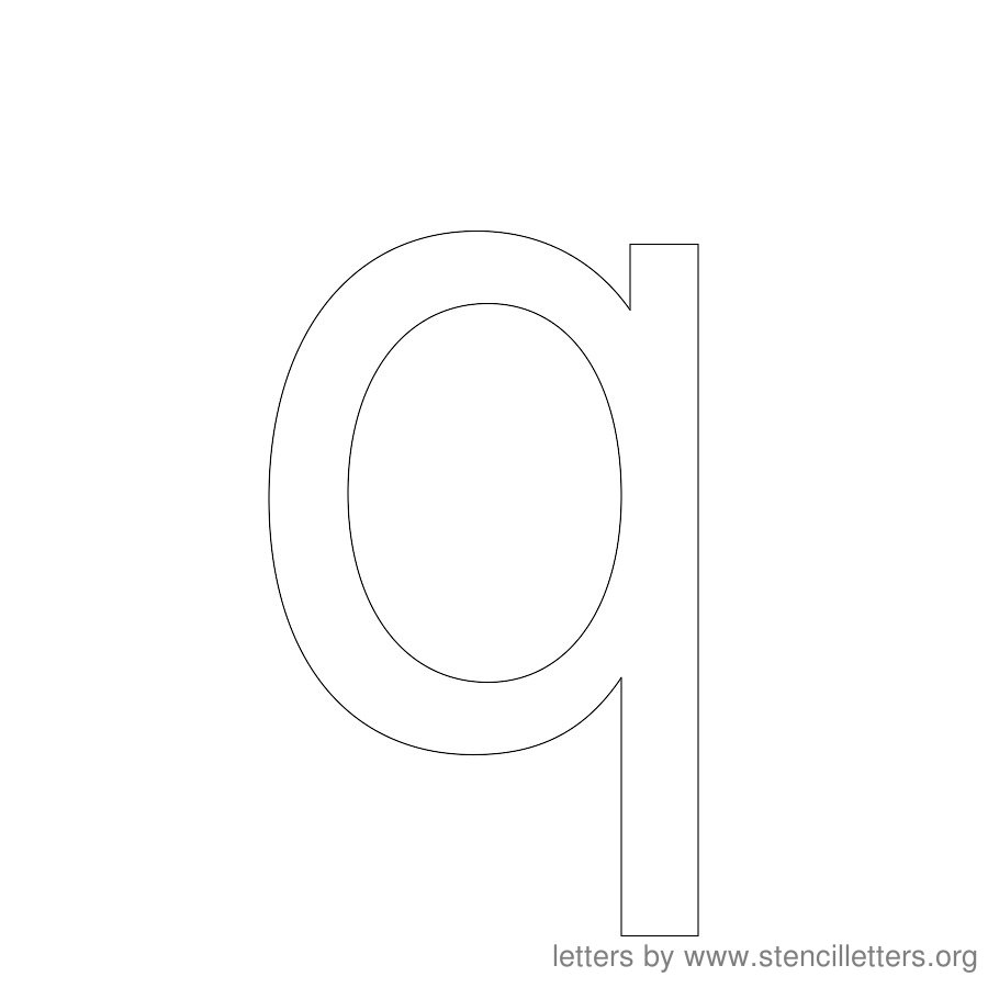 12 Inch Stencil Letter Lowercase Q