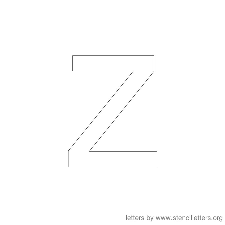12 Inch Stencil Letter Lowercase Z