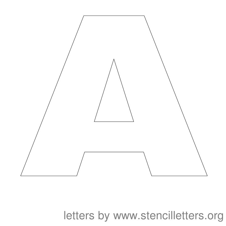 12 Inch Stencil Letter Uppercase A