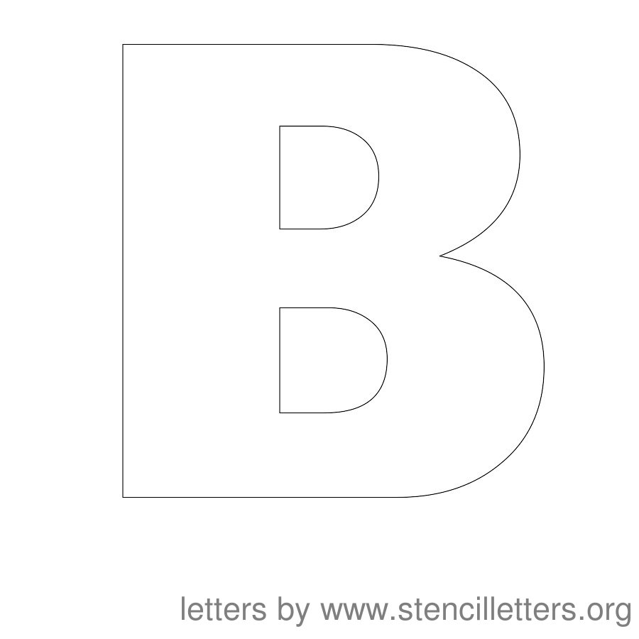 12 Inch Stencil Letter Uppercase B