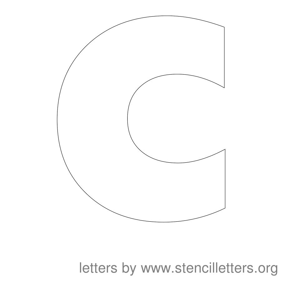 12 Inch Stencil Letter Uppercase C