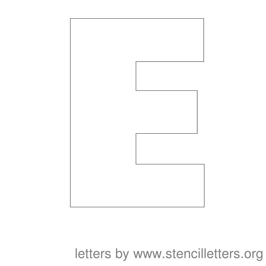 12 inch stencil letter uppercase e