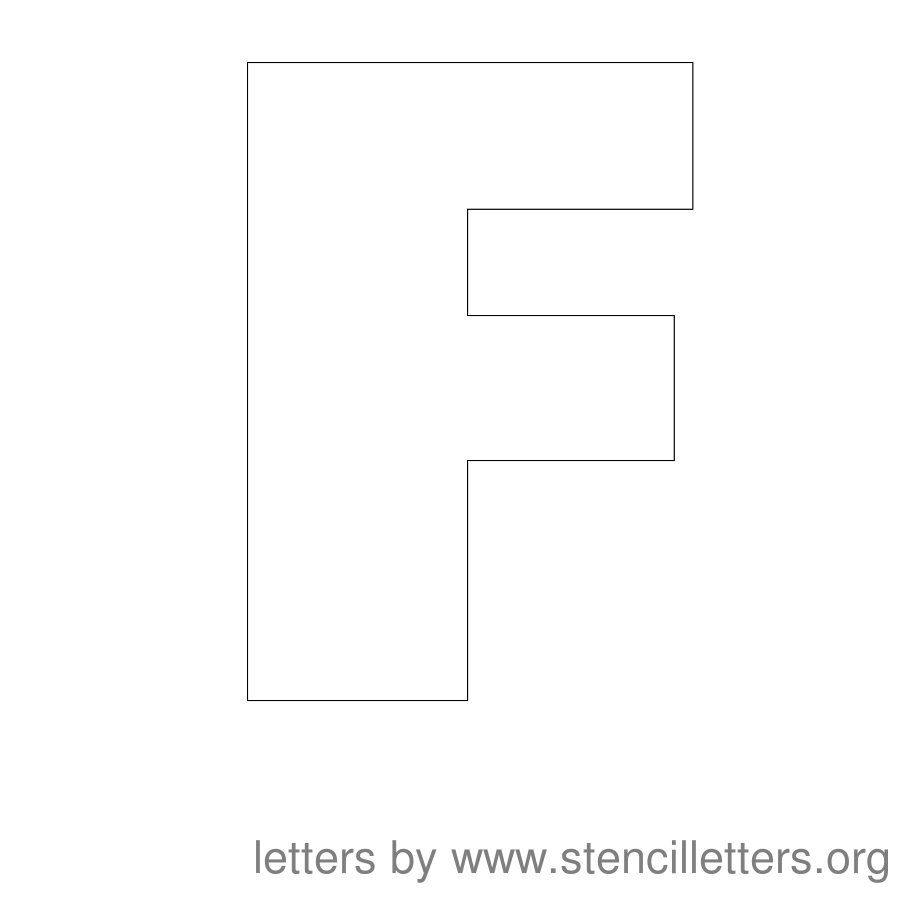 12 Inch Stencil Letter Uppercase F