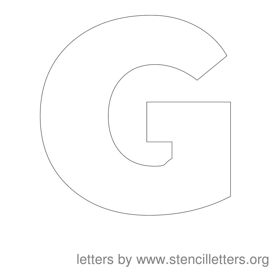 12 Inch Stencil Letter Uppercase G