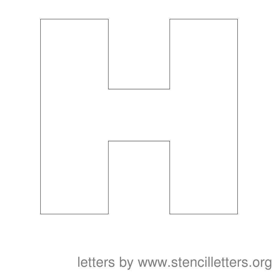 12 Inch Stencil Letter Uppercase H