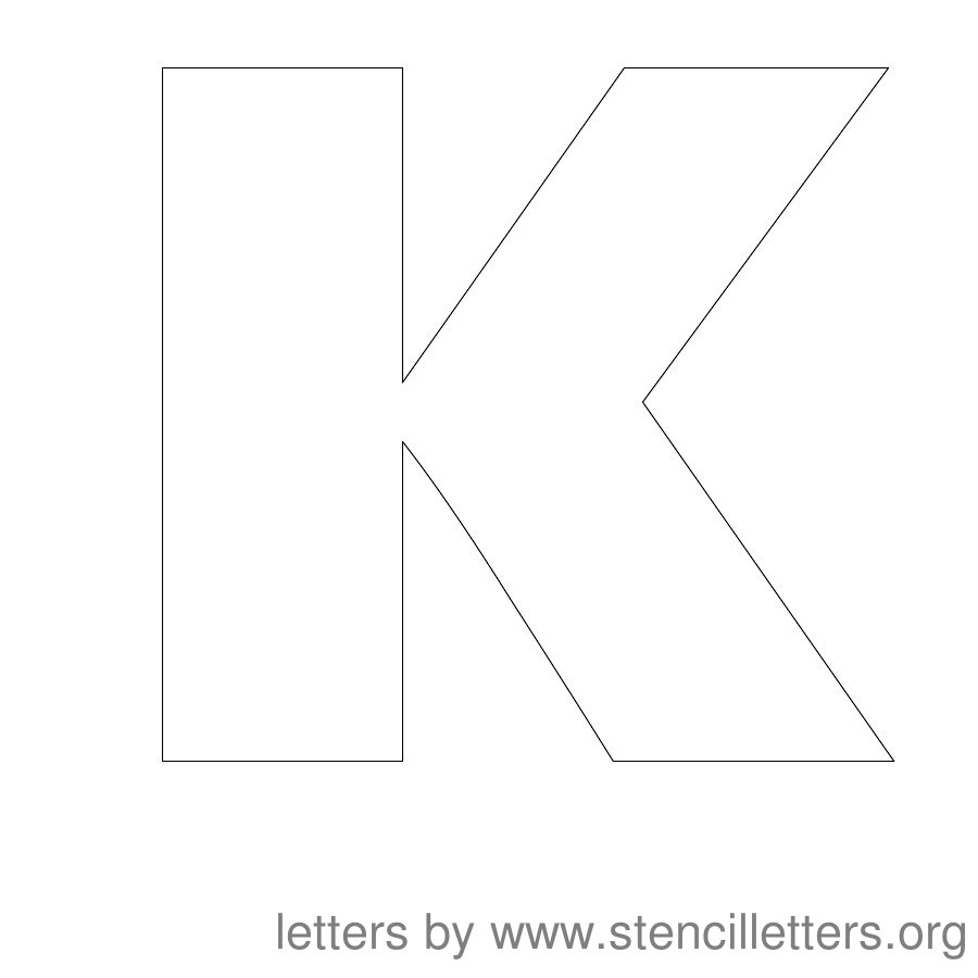 12 Inch Stencil Letter Uppercase K