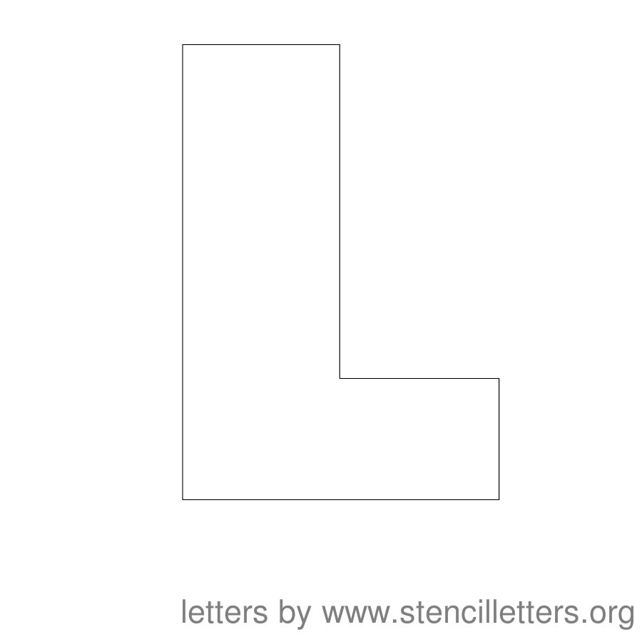 12 Inch Stencil Letter Uppercase L