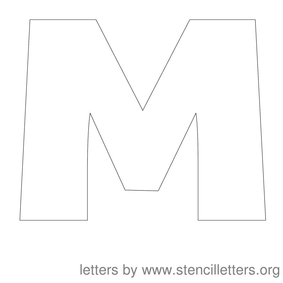 12 Inch Stencil Letter Uppercase M