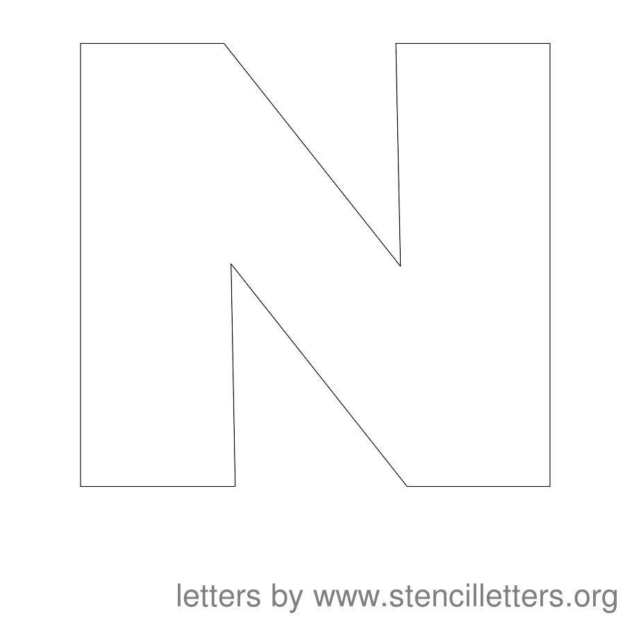 12 Inch Stencil Letter Uppercase N