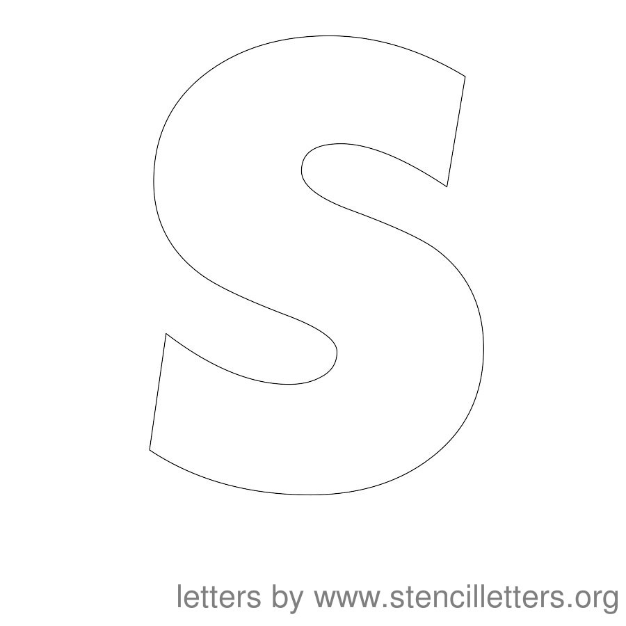 12 Inch Stencil Letter Uppercase S