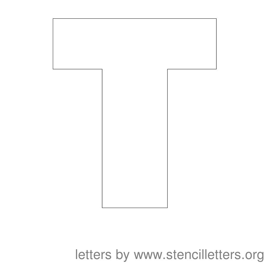 12 Inch Stencil Letter Uppercase T