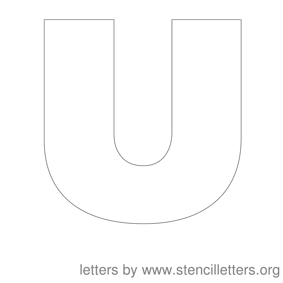 12inch-stencil-letters_u  Inch Printable Letter O Stencil Template on