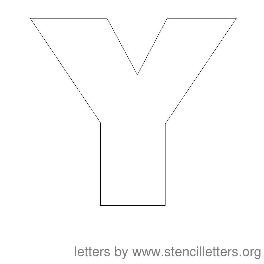 Superb 12 Inch Stencil Letter Uppercase Y