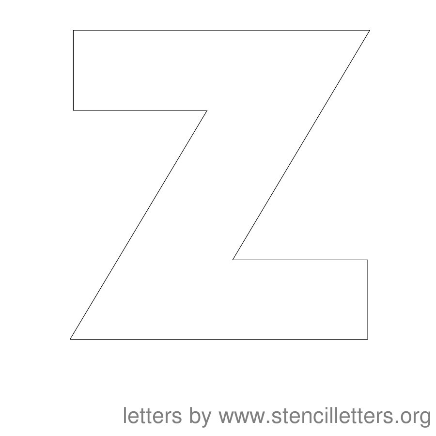 12 Inch Stencil Letter Uppercase Z