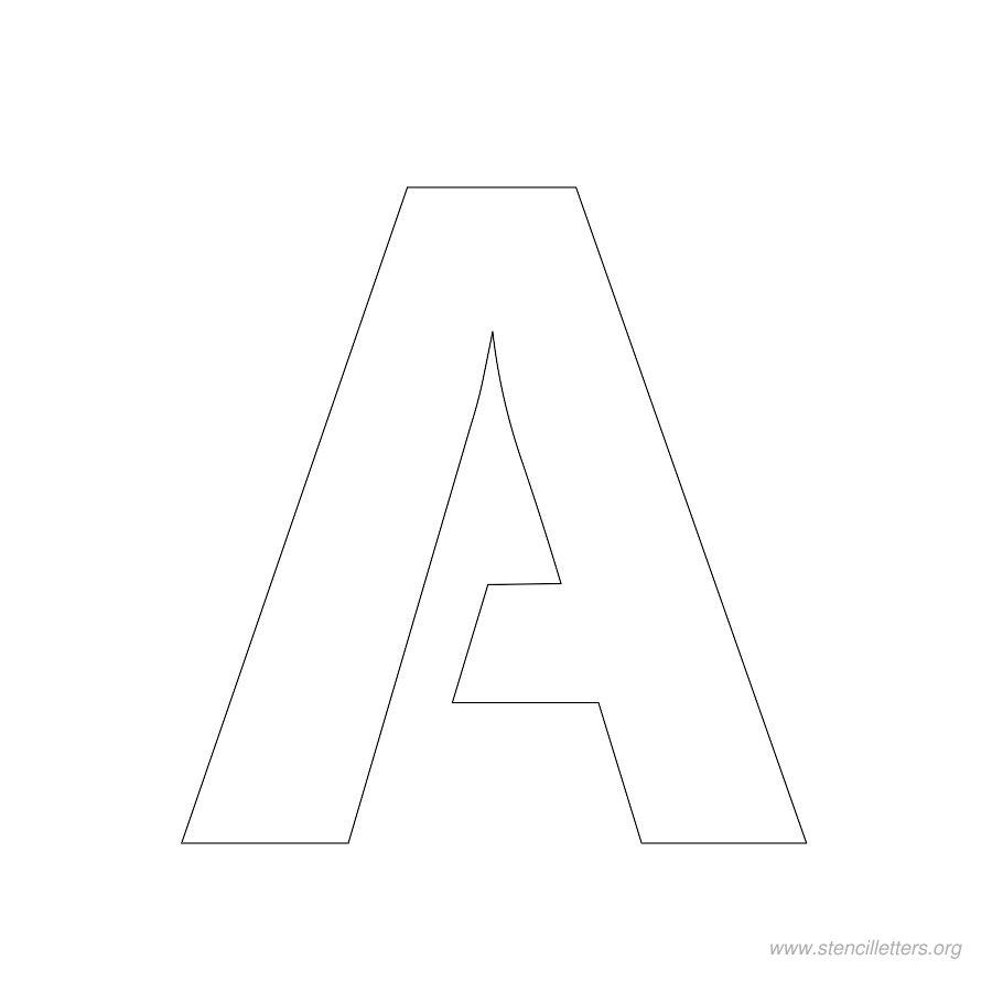 letter a stencil new calendar template site With 2 stencil letters free