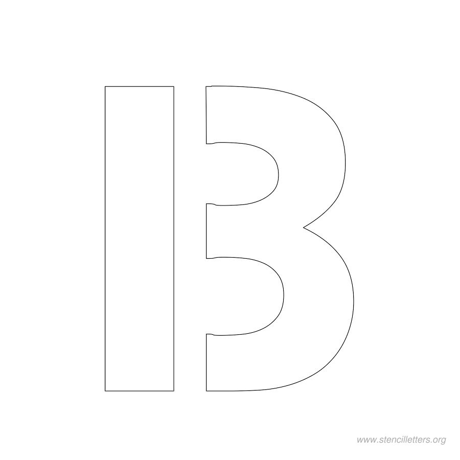 2 inch stencil letter b