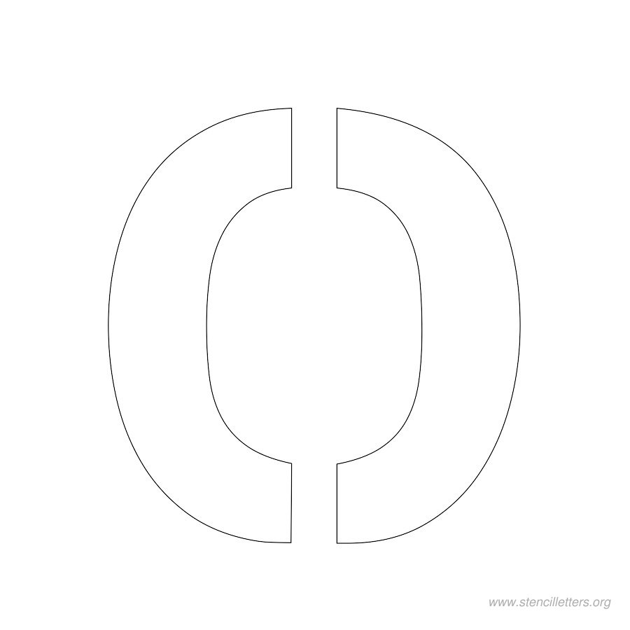 2inch-stencil-letter-o  Inch Printable Letter O Stencil Template on