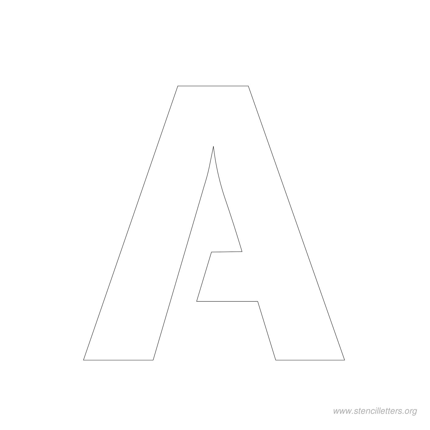 3inch-stencil-letter-a  Inch Letters Stencils Templates on
