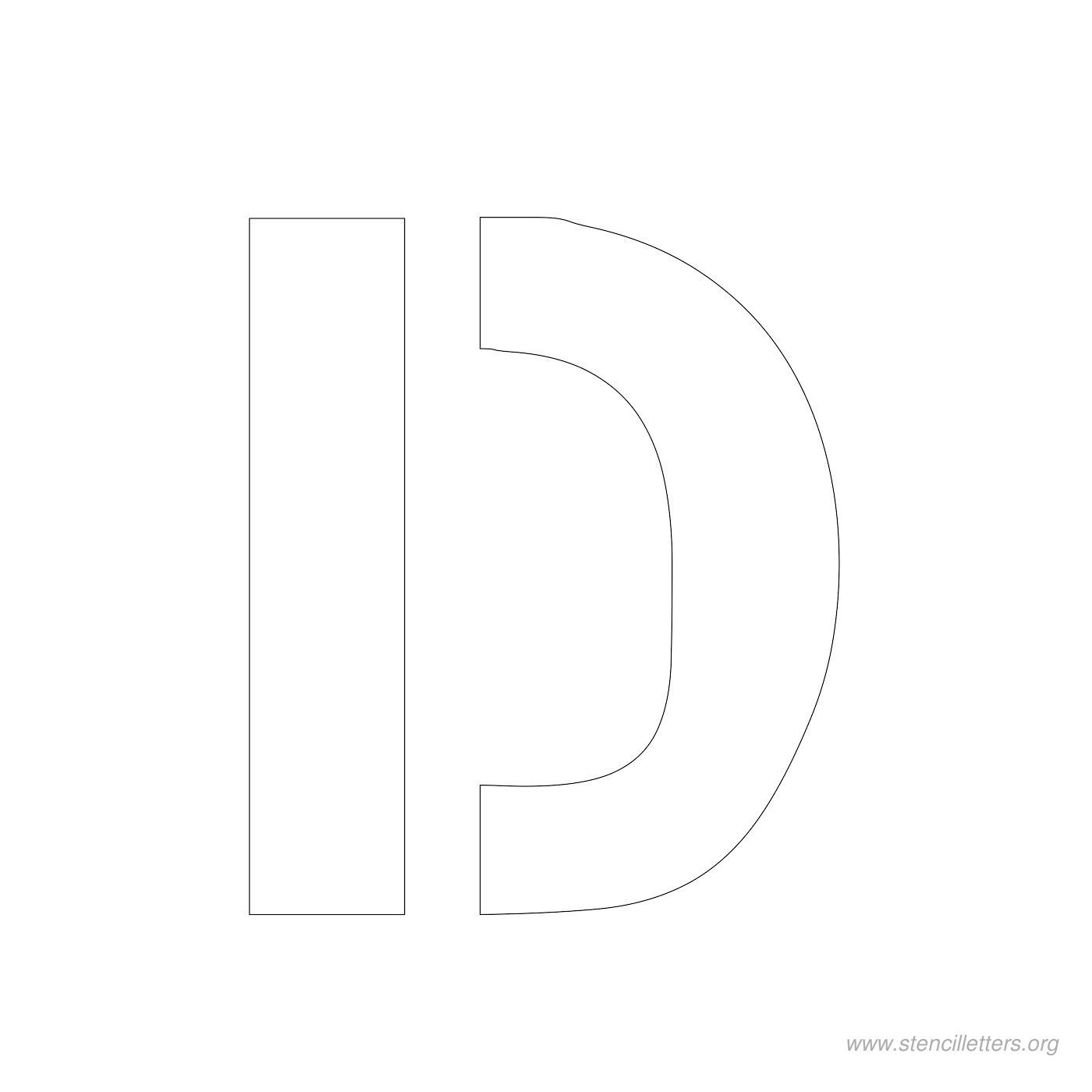 3 inch stencil letter d