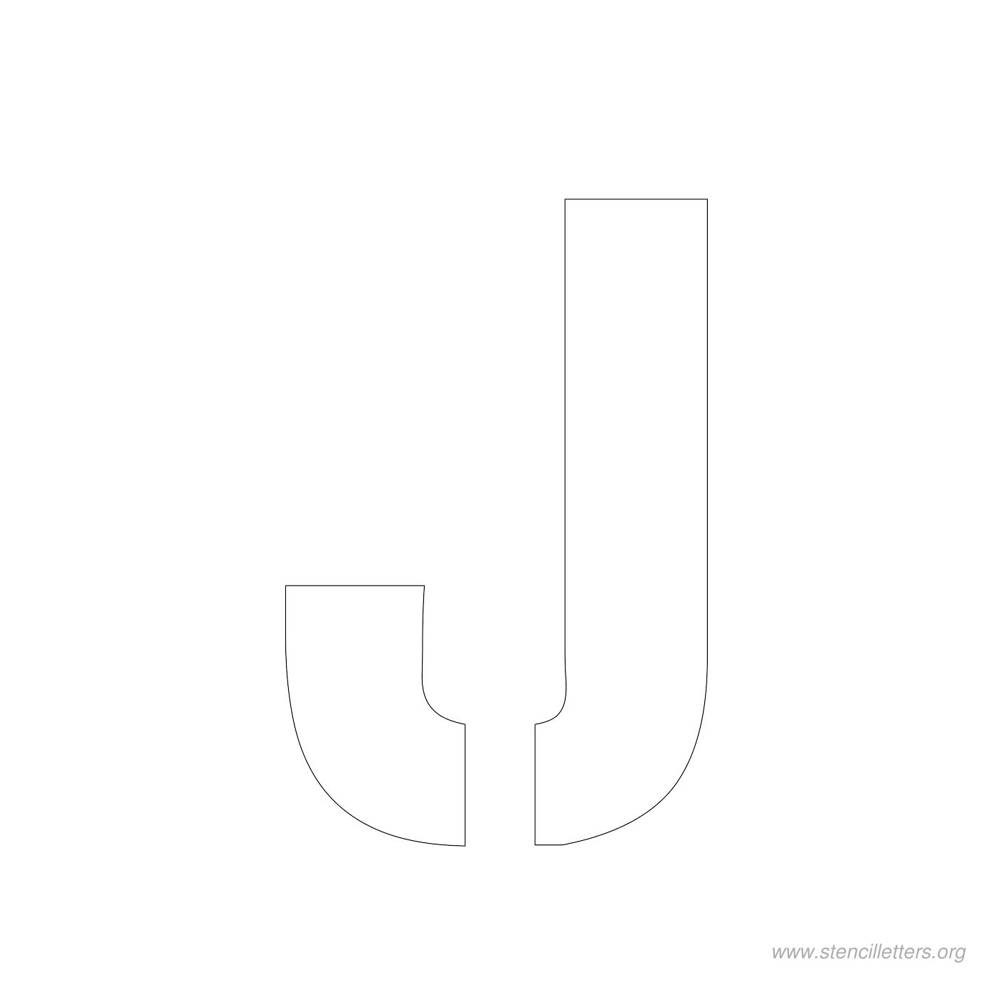 3inch-stencil-letter-j  Inch Printable Letter J Stencil Template on