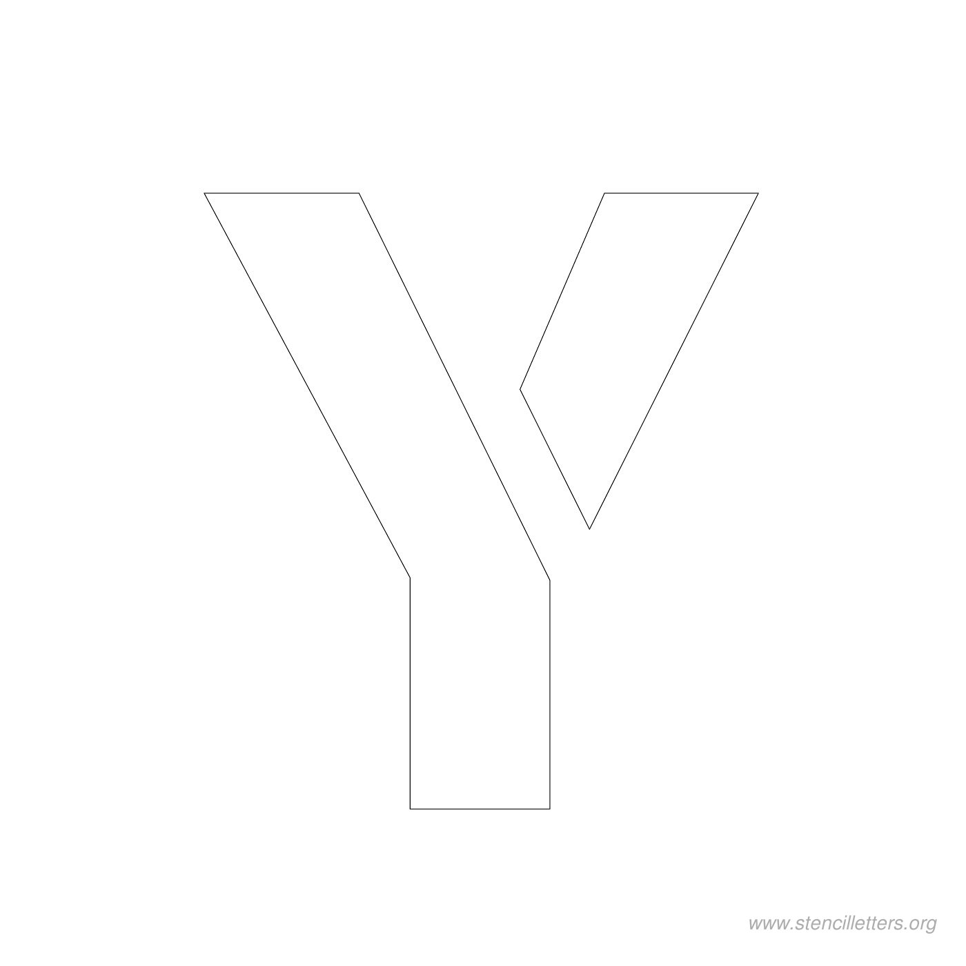 Gallery For gt Letter Y Stencils
