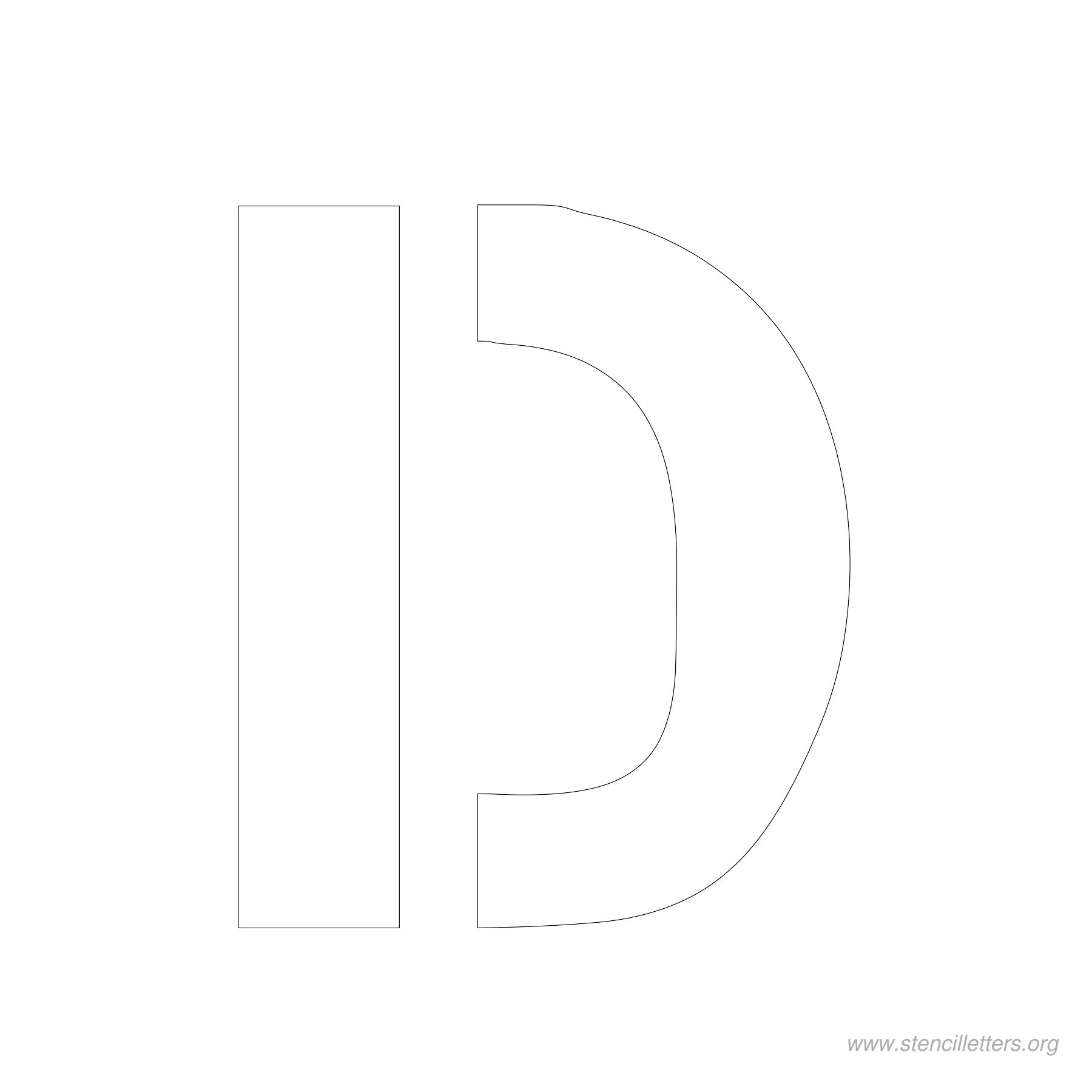 4 inch stencil letter d